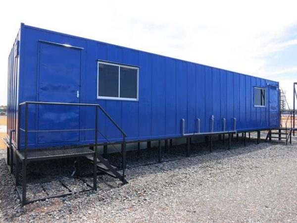 a blue heavy duty portable cabin