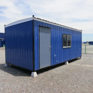 blue light duty portable cabin