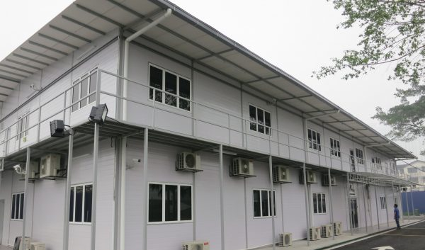 white prefabricated construction office in malaysia