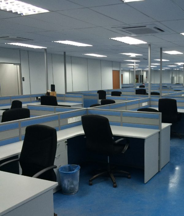 interior of prefabricated construction site office in selangor